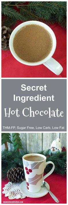 Secret Ingredient Hot Chocolate (THM-FP, Low Carb, Low Fat, Sugar Free)
