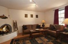Walk to The Plaza, The New Mexico State Capitol, Canyon Road or The Santa Fe Farmers' Market while staying in this large one bedroom casita. Santa Fe Nm, Canyon Road, Romantic Getaways, Rental Property, Vacation Rentals, One Bedroom, Mountain View, Simple Living, Luxury