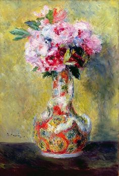 Bouquet in a Vase, Pierre Auguste Renoir