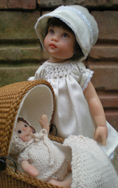"""Doll project by Nancy Lee Moran, a tribute to Dorothy of NYC.  As a child, Dorothy loved to travel the subways and the """"EL"""" (elevated trains) by herself at the age of seven. It was safe to do so in 1928 for a nickel a day. She could ride all the way from the Bronx to Coney Island and back."""