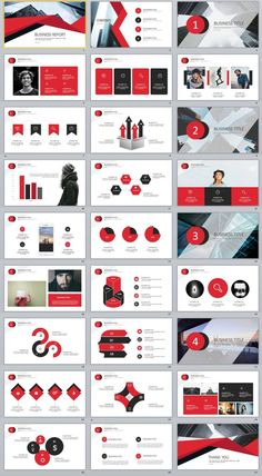 27+ Red Business chart PowerPoint Presentations template
