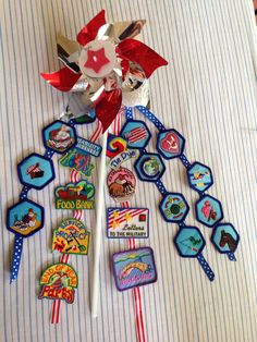 Our Badge Presentation pinwheels. Girl Scout Badges, Brownie Girl Scouts, Girl Scout Leader, Girl Scout Troop, Girl Scout Bridging, Girl Scouts Of America, American Heritage Girls, Girl Scout Activities, Girl Scout Juniors