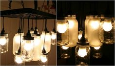 Mason jars are another item you probably have lying around. You can use some of them, along with a ceiling-mounted utensil rack, to create a one-of-a-kind chandelier. Learn more from the tutorial at Ikea Hackers.