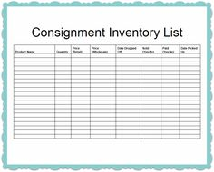 ... : http://www.scribd.com/doc/136322147/Consignment-Inventory-Template