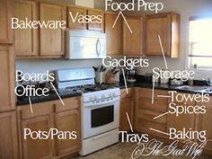 The Good Wife Weekly Organization Challenge - Week 1 Kitchen Cabinets #organization #kitchen