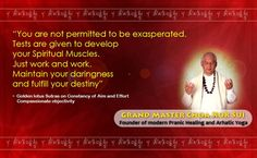 You are #not permitted to be #exasperated . #Tests are given to #develop your #Spiritual #Muscles . #Just #work and work .  #Maintain your #daringness and #fulfil your #destiny .  ~~ #Grandmaster #Choa #Kok #Sui