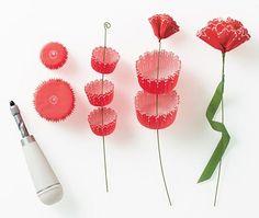 Forminhas de cupcake fazem flores de papel
