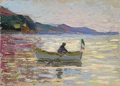 """Wassily Kandinsky (1866-1944) Rapallo, Boot im Meer (1906) Franz Marc Museum, Kochel am See, Germany """