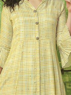 Simple Kurti Designs, New Kurti Designs, Stylish Dress Designs, Kurta Designs Women, Kurti Designs Party Wear, Designs For Dresses, Blouse Designs, Kurti Embroidery Design, Embroidery Patterns