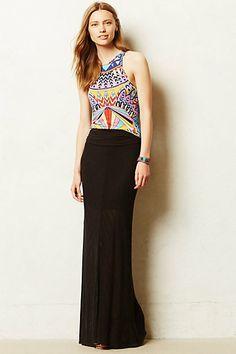 Shadow Stripe Maxi Skirt - anthropologie.com
