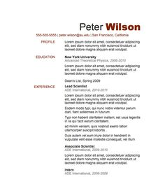 Free Resume Download Bold Type  Microsoft Word Format  Resumes