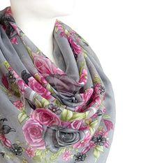 Cotton Scarf, Alexander Mcqueen Scarf, Shawl, Fashion Accessories, Floral Prints, Gray, Amazon, Elegant, Womens Fashion