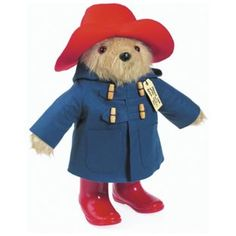 Vintage Paddington Bears wears his delightful detailed signature blue felt duffle coat with four traditional wooden toggle fastenings, a red hat and red Wellington boots. With long hair, Paddington comes with a special luggage hang-tag addressed to London Red Wellington Boots, Oso Paddington, Red Felt, Felt Hat, All Toys, Red Hats, Toys Shop, My Childhood, Boxer