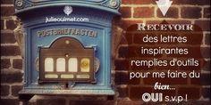 J'entrevois vous préparer bientôt des lettres remplies d'inspirations, de réflexions et de mes meilleurs outils. Vous ne voulez rien manquer...Inscrivez-vous ici ! Lettre et inspiration Julie Ouimet, Thérapeute.