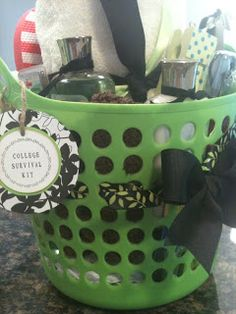 Dorm Survival Kit: Item include: Rubber/Plastic Shower Tote Bath Towel W College Dorm Survival Kit: Item include: Rubber/Plastic Shower Tote Bath Towel Wash Cloths Bath/Sho College Gifts, Graduation Gifts, Graduation Ideas, Graduation Parties, Graduation 2015, Graduation Decorations, Raffle Baskets, Gift Baskets, Gift Hampers