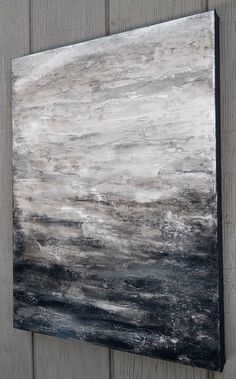 Abstract Gray Painting 18 x 24 Original Textured Canvas Wall Encaustic Painting, Abstract Paintings, Art Projects, House Projects, Henri Matisse, Abstract Landscape, Painted Canvas, Wall Canvas, Wall Art