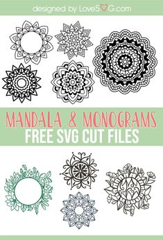 Cricut Monogram, Free Monogram, Monogram Frame, Monogram Fonts, Monograms, Cricut Svg Files Free, Cricut Fonts, Free Svg Cut Files, 3d Cuts