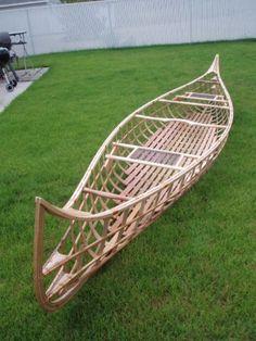 skin on frame canoe polyurethane color - Google Search