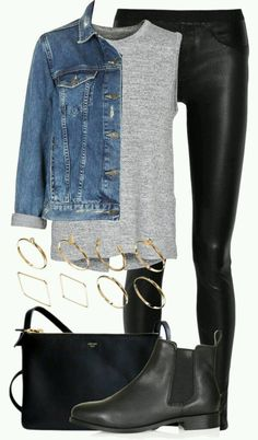 cute outfits with leggings / cute outfits . cute outfits for school . cute outfits with leggings . cute outfits for winter . cute outfits for women . cute outfits for school for highschool . cute outfits for spring Legging Outfits, Leather Leggings Outfit, Black Leggings, Leather Outfits, Leather Skirts, Leggings Fashion, Denim Jacket Outfits, Leggings Style, Pants Style