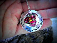 Personalized Hand Stamped Necklace  Locket by CharmletteDesigns, $38.00