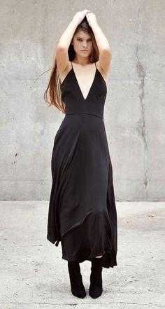 Upstate Black Simone Gown