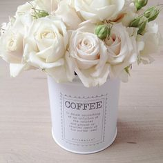 Roses in a coffee jar ♡ - @marina_in_wonderland-