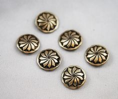 Native American Silver Handmade Concho Buttons from coins