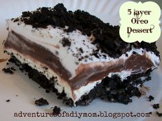Adventures of a DIY Mom: 5 Layer Oreo Dessert