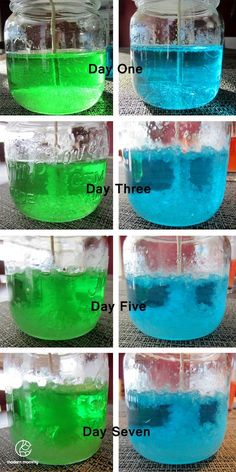 Make your own Rock Candy! Dissolve 3 cups sugar into 1 cup of water that has been heated over medium heat. Pour evenly into 4 glass jars, or 2 if you want longer sticks of candy. Fix your candy sticks to a pencil and hang over the middle of your solution of sugar, add food coloring and/or flavoring. Cover with paper towel and leave undisturbed for 7 days and the sugar will climb up the sticks making rock candy!