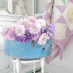 "Pancake Hill ▪ Ingrid on Instagram: ""A little bushel of happiness to help get you through hump day! 💜... . . . . . . . . . . . #pancakehill #bhghome #cottagestyle…"" Lavender Roses, Cottage Style, You Got This, Create, Day, Pancake, Instagram, Pastels, Happiness"