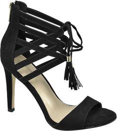 Deichmann Star Collection women Lace-up Heel Sandals black New Black High Heels, Black Sandals, Ellie Goulding, Pumps, Dream Shoes, Lace Up Heels, Graceland, Ankle Strap Sandals, Shoe Collection