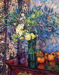 The Athenaeum - Persimmons, Roses and Mimosas (Theo van Rysselberghe - )