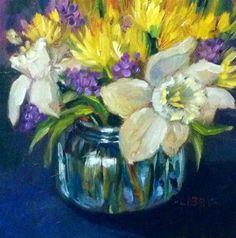 """Daffodil Bowl"" - Original Fine Art for Sale - © Libby Anderson"