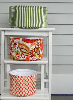 Make your own .... Great site with tutorials!  Fabric basket tutorial.  Easy to add a handle for Easter!