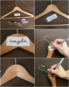 DIY Personalized Bridesmaid Dress Hangers - The Pearl Magnolia Bridesmaid Dress Hangers, Bridesmaid Gift Boxes, Bridesmaid Proposal Box, Bridesmaid Gifts From Bride, Bridesmaids And Groomsmen, Wedding Bridesmaids, Brides Maid Gifts, Personalized Bridesmaid Gifts, Personalized Hangers