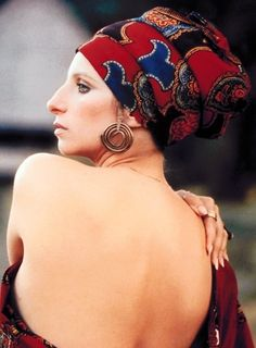 loving the turban and open back #fashion #style