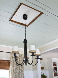 Nail a frame to the ceiling and you have a ceiling medallion!