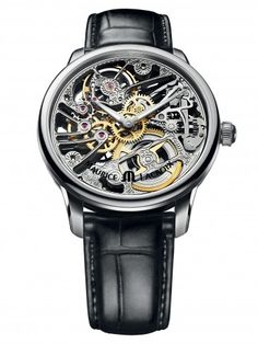 Maurice Lacroix MP7208-SS001-000 MasterPiece Squelette Tradition Mechanical Skeleton Watch For Men