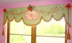 Canvas Window Treatment for girls bedroom