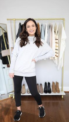 Sporty Outfits, Casual Winter Outfits, Winter Fashion Outfits, Mode Outfits, Grunge Outfits, Legging Outfits, Look Fashion, Spring Outfits, Winter Outfits Women