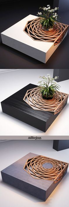 Wood Furniture: Gorgeous Design Wood Coffee Table Architecture I. Deco Design, Wood Design, Design Moderne, Rustic Design, Design Design, Home And Deco, Diy Furniture, Furniture Stores, Garden Furniture