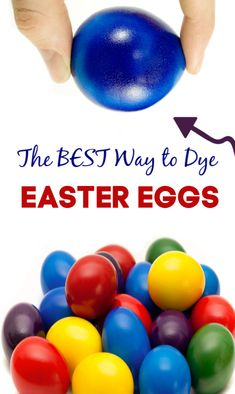 Tips for decorating SUPER vibrant Easter eggs using food coloring! This recipe tutorial shows you how to get the most stunning, dyed eggs- step-by-step. Food Coloring Egg Dye, Coloring Easter Eggs, Easter Activities, Easter Crafts For Kids, Easter Decor, Easter Ideas, Easter Stuff, Indoor Activities, Summer Crafts