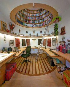 Amazing Dome bookshelf- I want one!