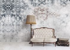 Soft and faded colors in this stunning wallpaper scaled to fit See Through by Skinwall Interior Walls, Interior Design, Stunning Wallpapers, Old Wall, Wall Finishes, White Home Decor, Inspiration Wall, My New Room, Textured Walls