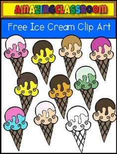 This cute clip art set includes 11 ice cream cone images.  10 in color and 1 in digital stamp format.  These are high quality png images (meaning no white background around them).  They will re-size nicely and still remain crisp.  As always, if you can find these ice cream cones useful, feedback is always appreciated.