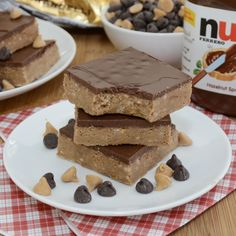 Peanut Butter Nutella Bars