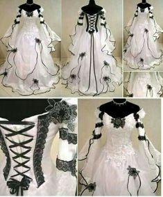Pretty white Victorian dress