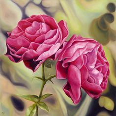 Anna Keay   Double Rose Limited Edition Giclee