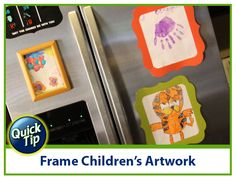 How To De Clutter Your Fridge With Glue Dots Glue Dots Childrens Artwork Diy Craft Projects