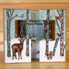 Christmas has arrived at Hobby Art! 'Nature Trail' Clear set contains… Christmas Cards To Make, Christmas Deer, Xmas Cards, Handmade Christmas, Christmas Crafts, Christmas Ornaments, Fall Cards, Winter Cards, House Mouse Stamps
